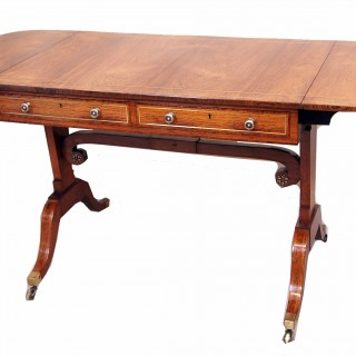 Regency English 18th Century Rosewood & Yew Sofa Table