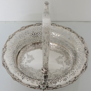 Sterling Silver George II Cake Basket London 1738 Peter Archambo