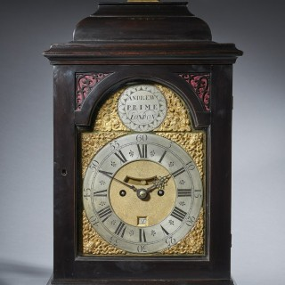 A Fine Ebonised George II Eight Day Table Clock with Dutch Striking and Trip Rep