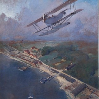 Seaplane of the Imperial German Air Force over the Baltic Coast, 1918