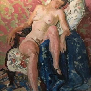 'In the Studio' by Steven Spurrier RA RBA ROI (1878-1961)