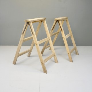 Pair of Oak Stands