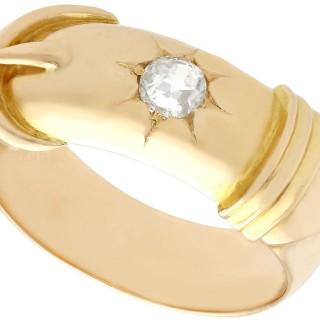 0.38 ct Diamond and 18 ct Yellow Gold Dress Ring - Antique Circa 1900