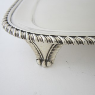 Antique George III Sterling silver tray