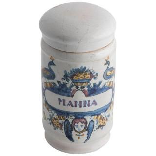 Deft drug jar with lid