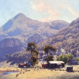 'Towering Bluffs, Capertee Valley' by Warwick Fuller (born 1948)