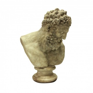 A LARGE LIBRARY BUST OF HERCULES