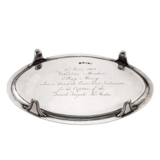 Valentine Munden's Prize Money silver salver London 1792