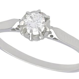 0.25 ct Diamond and Platinum Solitaire Ring - Vintage Circa 1980