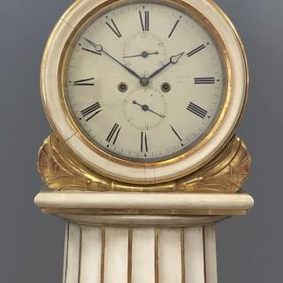 Antique Scottish Drumhead Painted Longcase Clock