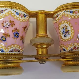Antique Enamel Opera Glasses