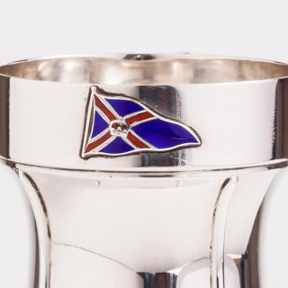 Superb Silver Tankard with a Nautical Theme, London, 1933