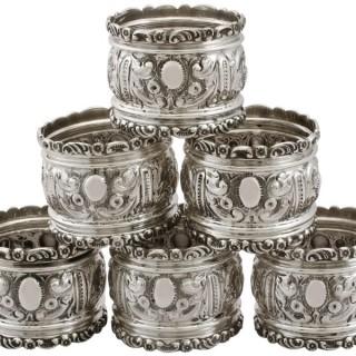 Sterling Silver Napkin Rings - Antique Edwardian (1906)