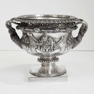 Antique Silver Warwick Vase