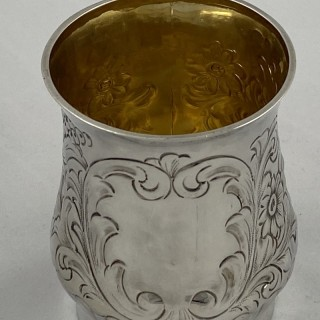 Antique Silver Victorian Mug / Tankard made in 1895 by Deakin and Francis of Birmingham.