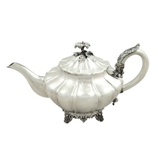 Antique Victorian Sterling Silver Teapot 1833