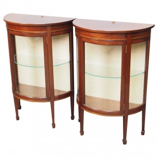 Pair of Sheraton Style Display Cabinets
