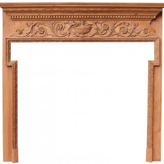 A Georgian Style Carved Timber Fire Surround
