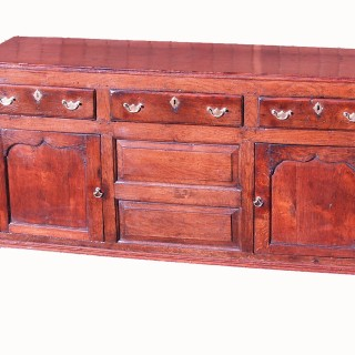 Georgian 18th Century Oak Cupboard Dresser Base