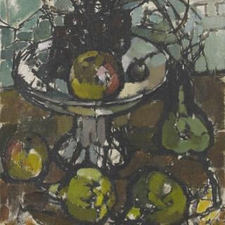 'Fruit Still Life, 1963' by Ida Cooke (1909-1982)