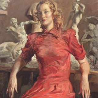 'In the Studio' by Paulo Ghiglia (1905–1979)