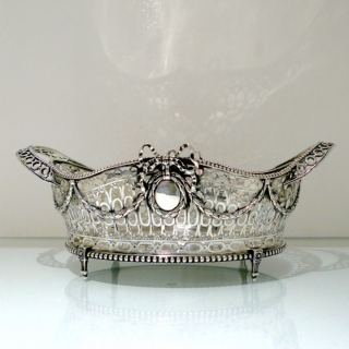 Antique George V Sterling Silver Dish London 1911 Wakely & Wheeler