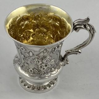 Antique Sterling Silver Christening Mug 1840 John Charles Edington of London