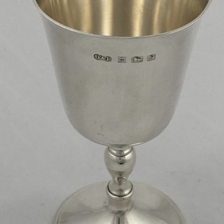 Hallmarked Sterling Silver Goblet 1976 Deakin and Francis of Birmingham