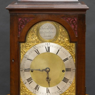 George II Quarter Chiming English Fusee Bell Top Bracket Clock by John Pyke, London