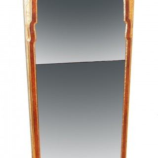 Rare Early Georgian 18th Century Walnut & Gilt Pier Mirror