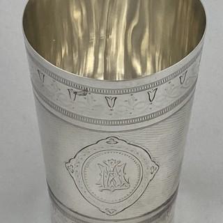 Antique Sterling Silver Beaker 1874 Barnard family London.
