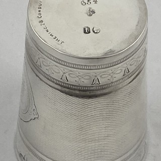 Antique Sterling Silver Beaker 1874 Barnard family London.