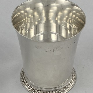 Hallmarked Sterling Silver Beaker 1977 John Chatterley London