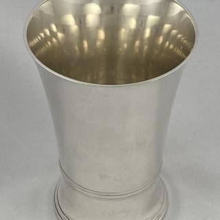 Hallmarked Sterling Silver Beaker by Tessiers of London 1952
