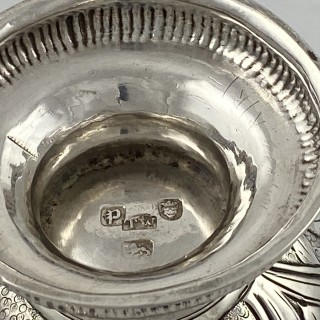 Antique Sterling Silver George III Rococo Loving Cup made in 1770 by  Thomas Wallis London.