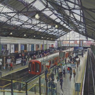 'Earl's Court Underground Station' by Luke Martineau (born 1970)