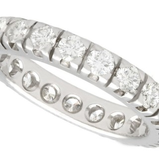 1.76 ct Diamond and 18 ct White Gold Full Eternity Ring - Vintage Circa 1980