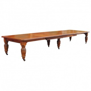 Large Victorian Oak Dining Table