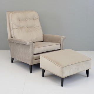 Recliner Chair and Stool
