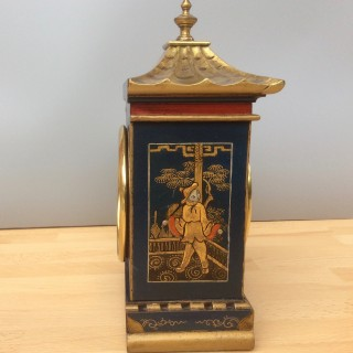 Edwardian Mantel Clock with Chinoiserie Decoration