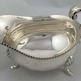 Antique Silver Sauce Boat made in 1913 by George Howson of Sheffield