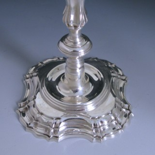 Pair of Cast Sterling Silver Candlestick made in 1975 by J. B Chatterley