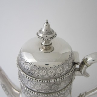 Antique Victorian Sterling silver tea and coffee set