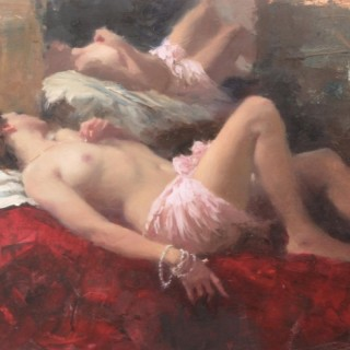 Sleeping Nude, Rose & Crimson