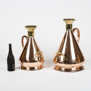 BRASS CONICAL STANDARD MEASURES, 3 & 5 Gallon, GR VI mark.