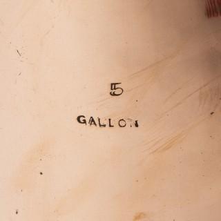 BRASS CONICAL STANDARD MEASURES, 3 & 5 Gallon, GR VI mark.