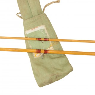 Pezon Et Michel Parabolic Split Cane Trout Fly Fishing Rod.