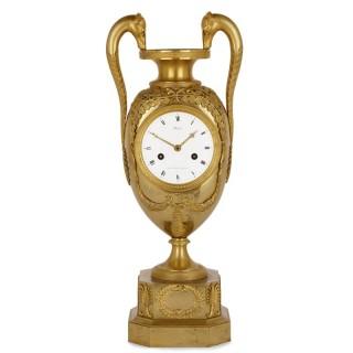 French Empire period ormolu mantel clock by Michelez