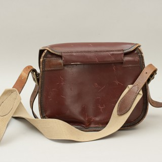 Vintage Leather Cartridge Bag By Parsons