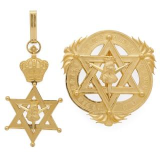Set of gilt metal Ethopian insignia
